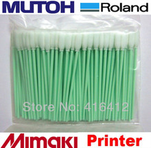 500 pz Schiuma con Punta A Getto Dinchiostro piccoli Tamponi di Pulizia per Roland Mimaki JV3 JV4 Per Epson DX3 DX4 DX5 DX7 testina di stampa tamponi
