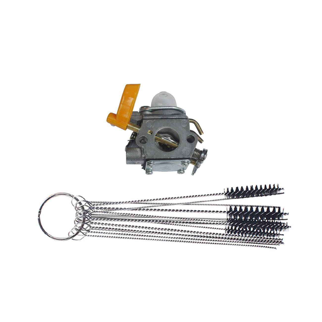 Carburetor & cleaning brush For Ryobi Homelite 26 30cc