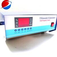 초음파 변환기 상자에 대 한 plc 제어와 3 주파수 28 k/41 k/123 k 초음파 청소 생성기 600 w