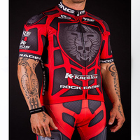 High Quality Pro Team Rock Racing Bike Cycling Clothing Men Summer Ropa Ciclismo Breathable Short Sleeve