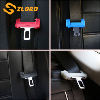 Zlord Car Safety Seat Belt Buckle Protector Clip Cover Accessories for Ford Focus 2 3 4 Fiesta Ecosport Everest Kuga Mondeo image