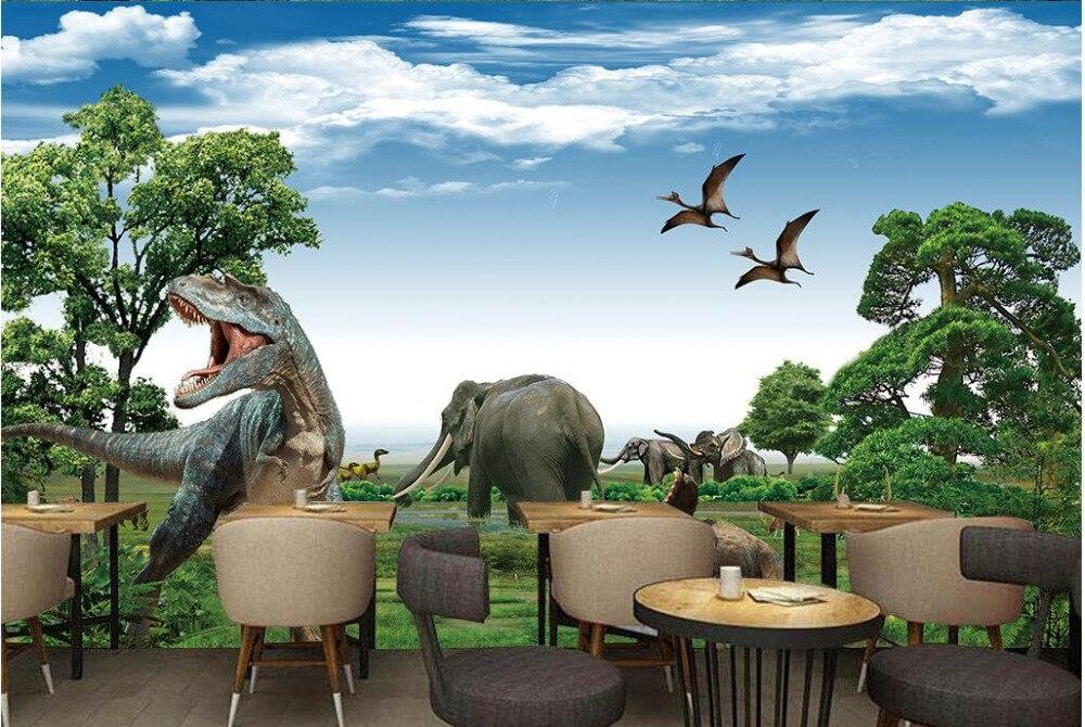 Popular dinosaur wall murals buy cheap dinosaur wall for Dinosaur mural wallpaper