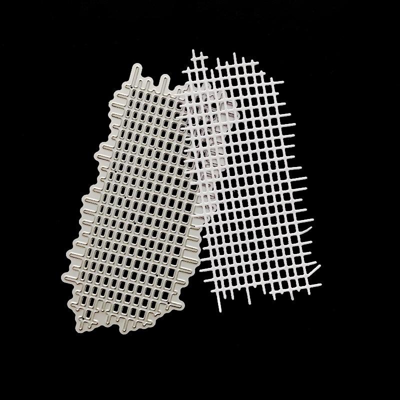 Jc corte de metal dados para scrapbooking 2019 fundo de malha artesanato diy álbum de gravação pasta stencils criador foto modelo decoração