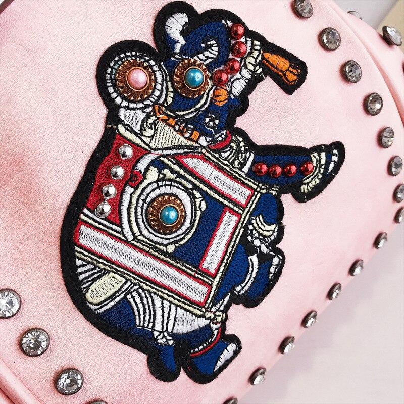 Women's Elephant Embroidery Eco Leather Messenger Bag 2