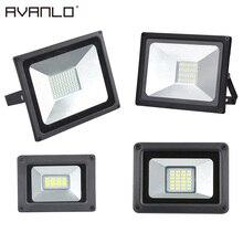 Светодиодный прожектор заливающего света 50 Вт 30 Вт 20 Вт 10 Вт ультра тонкий светодиодный прожектор на открытом воздухе 220V IP65 наружная настенная лампа для прожектора для замены