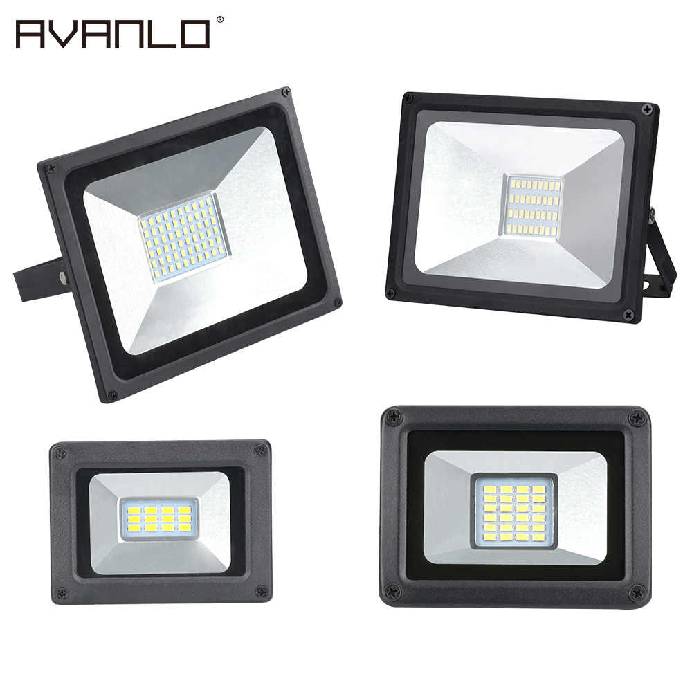 LED Floodlight  50W 30W 20W 10W Ultra Thin Led Flood Light Spotlight Outdoor 220V IP65 Outdoor Wall Lamp Flood Light Led