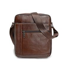 Genuine Cowhide Leather Men Bags Man Crossbody Shoulder Handbag Man Fashion Messenger Bag Male Hot Sale Travel Bags Tote