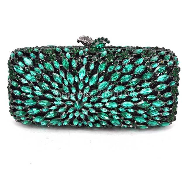 7c05843616224 هدية مربع الزفاف متعددة الكريستال المستطيل براثن مساء حقيبة يد معدنية بحيرة  الأزرق الماس حفلة موسيقية