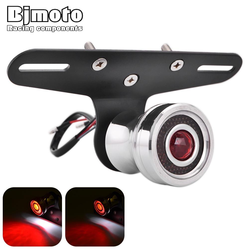 Bjmoto мотоцикл светодиодный задний фонарь номерной знак кронштейн сигнала поворота Стоп сигнал для Harley Honda Yamaha задний фонарь