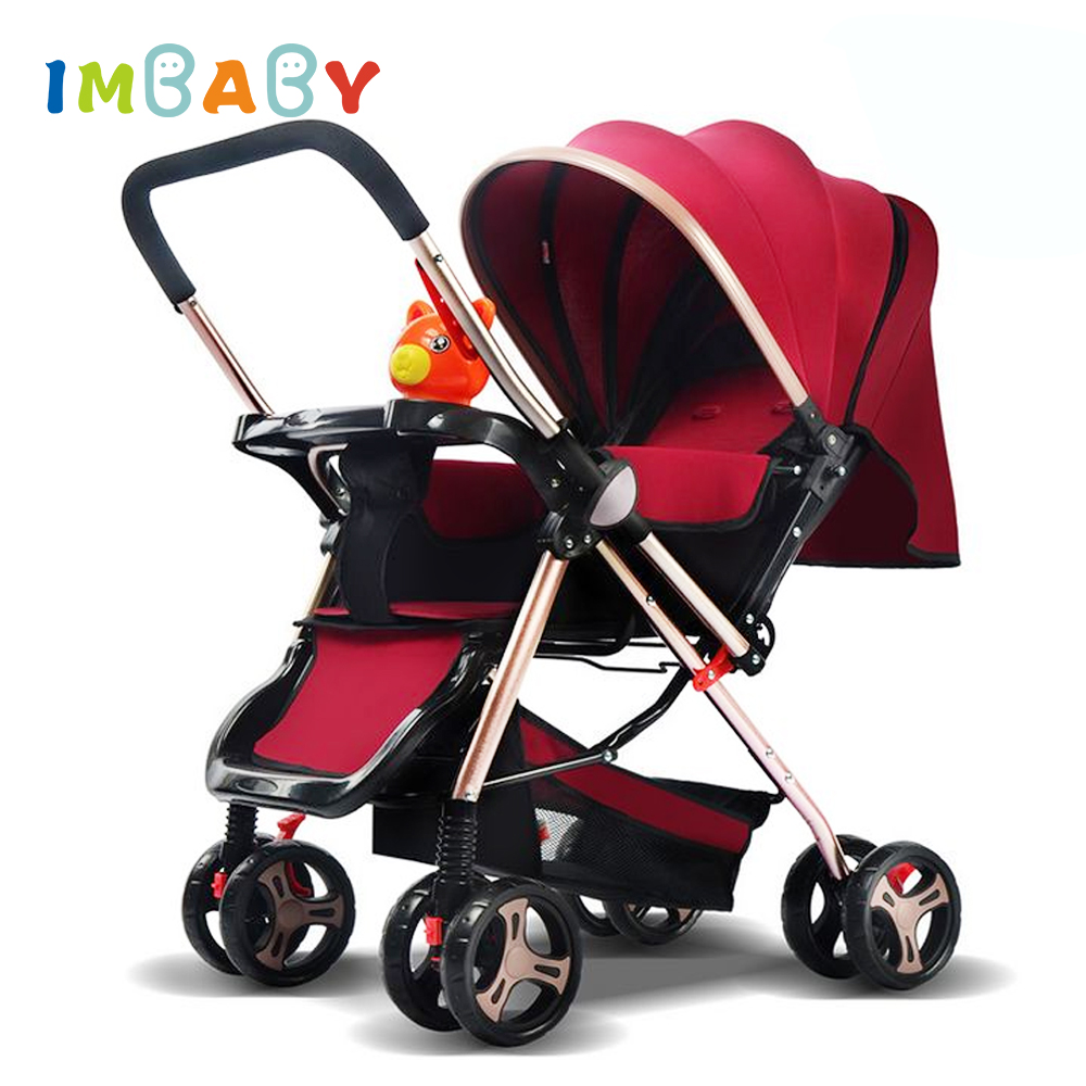 IMBABY Luxury Baby Stroller Carriages Folding Baby Pram For Newborn High Landscape Baby Pushchair For Children With Music Player gray baby carriage children luxury pushchair for baby with an umbrella waterproof baby stroller folding light baby pram grey