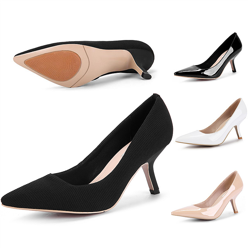 Plus Size 34-43 women thin and high heel pumps Patent Genuine Leather ladies shoes pointed toe Party women's Dress Office Shoes plus size 34 43 new hot sale thin heel women pumps pointed toe sequin simple fashion high heels ladies dress shoes gold
