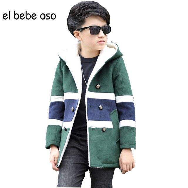 New 2016 Kids Velvet Jacket Children Wool Coats Outerwear Winter Autumn Boys Jackets Thick Woolen Kids Coat Winter Clothes XL653