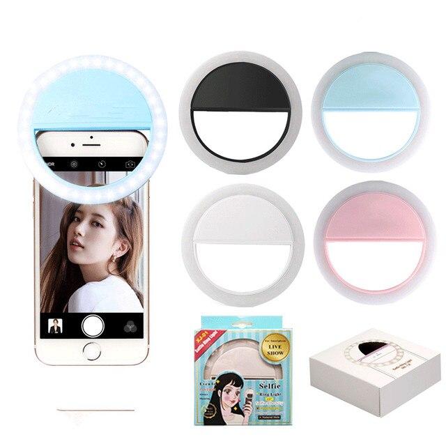 Melhorar A Fotografia do Smartphone Selfie 36 Anel de Luz Led Flash Da Câmera Portátil Universal Holofotes Tirar Fotos à Noite