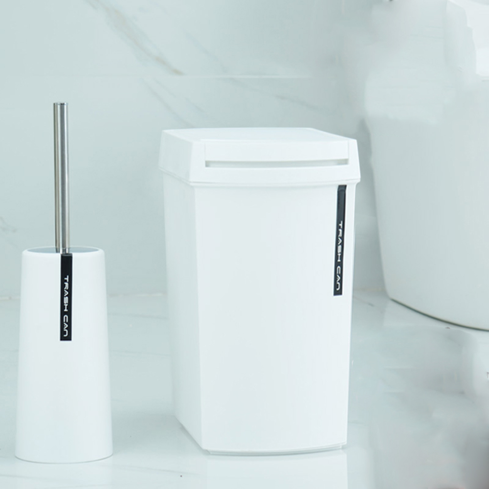 New Creative Fashion Plastic Trash Can 8L/12L Shake Cover Type ...