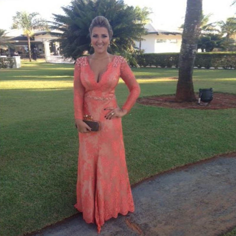 Gelinin Annesi Elbiseleri Beads Pearls Lace Pant Suits Long Sleeves Pearls Mother Bride font b Dress