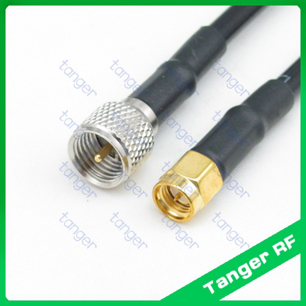 Hot sale Tanger Mini UHF male plug PL259 SL16 to SMA male plug RF RG58 Pigtail Jumper Coaxial Cable 3feet 100cm High quality rf coaxial cable uhf male to male connector uhf pl259 male to uhf male pl259 rg58 pigtail cable 50cm