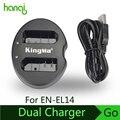 Kingma baterias en-el14 para nikon digital camera duplo (dual) carregador de bateria d5200 d5100 d3100 d3200 p7100 p7000 mh-24