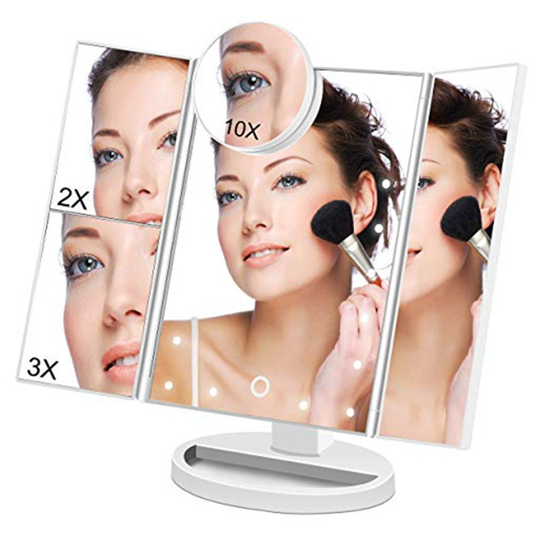 1X\10X Makeup Mirror Vanity LED Light Bulbs Kit 24 Led