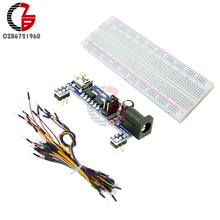 DIY KIT MB102 Prototype Breadboard Power Supply Mini USB DC 3.3V 5V + MB102 Breadboard 830 Point + 65Pcs Jumper Wire Cable