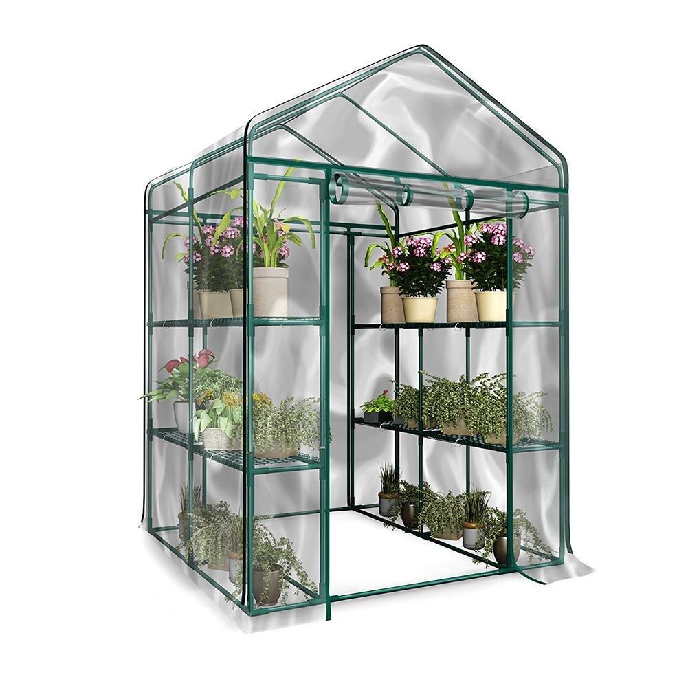 Jardin chaud Tier Mini Usine de Ménage PVC Couverture De Serre Étanche anti-UV Protéger Jardin Plantes Fleurs (sans Fer Stand)