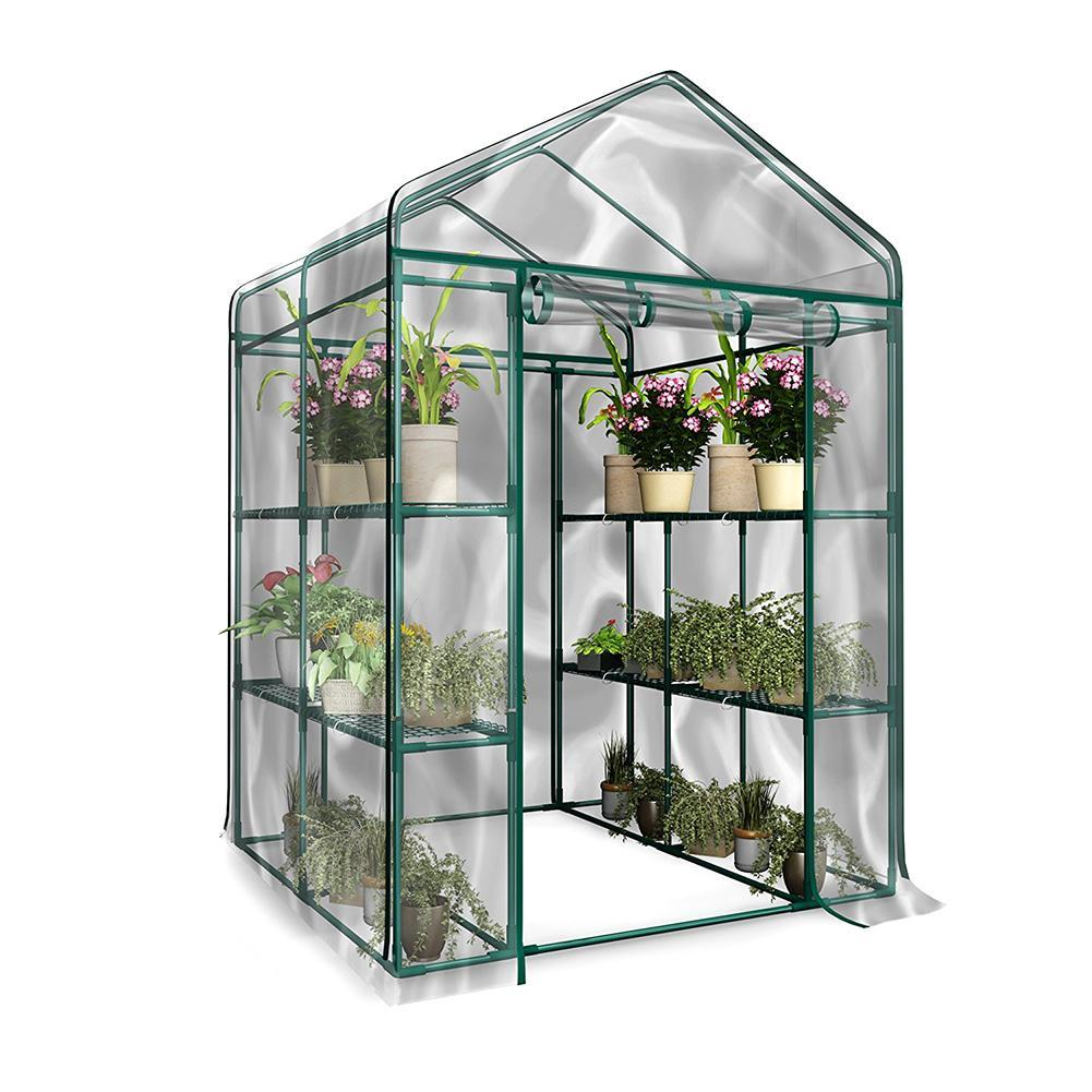 Warm Garden Tier Mini Household Plant PVC Greenhouse Cover Waterproof anti UV Protect Garden Plants Flowers (without Iron Stand)