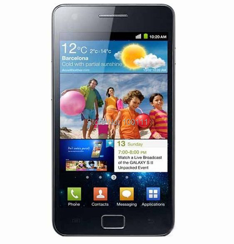 bilder für Freies DHL-EMS Verschiffen/Ursprüngliches Entriegeltes Samsung Galaxy S2 I9100 handy 3G 8MP android Dual Core 4,3 ''Touch 16 GB ROM