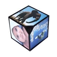 Good 360 Rerating Photo Frames Revoling Multi Picture Cube Black Home Decor Family Nov 25