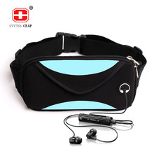 Fashion unisex waist pack men waterproof fanny pack women belt bum bag waist bag male phone wallet Pouch Bags Patchwork black(China)