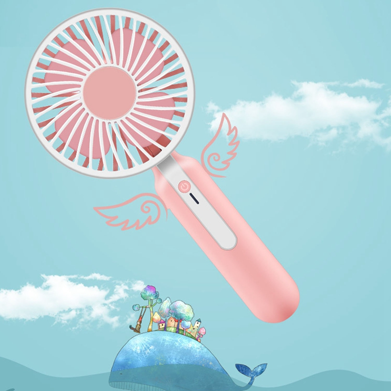 Image 3 - Portable Handheld Mini Fan With Rechargeable Built In Battery 1200Ma Usb Port Handy Mini Fan-in Fans from Consumer Electronics