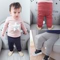 Bebé caliente Del Invierno Niños Niños Niñas Bebés Sólido Ocasional que hace punto Flojo de Terciopelo Espesar Pantalones largos de Larga Duración Pantalones