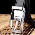 2017 Nuevos Cinturones de Diseño Para Hombre de Alta Calidad de la Marca de Lujo correas De Cuero Hebilla Cinturones de Pantalón de Negocios Negro Hombre Cinto