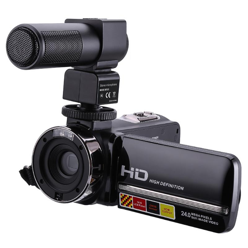 1080 P 24MP 16X Zoom Numérique Vidéo Caméra 3.0 Pouce 270 Degrés Tournent Écran Tactile Caméscope Télécommande Infrarouge Nuit Vision