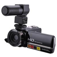 1080P 24MP 16X Digital Zoom Video Camera 3.0 Inch 270 Degree Rotate Touch Screen Camcorder Remote Control Infrared Night Vision