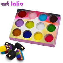 12 цветов/набор бархатный лак для ногтей, лак для ногтей, пудра, пигмент, бархатистый пигмент для ногтей, сделай сам, декоративные советы