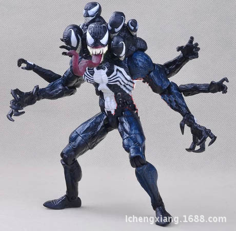 Hot ! NEW 1pcs17cm  spider-man Venom pvc toy Action Figure toys dolls пластилин spider man 10 цветов