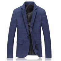 Suit Jackets Plus Size High Quality Spring Fashion Plaid Men Casual Jacket Nice Pop Tide Slim Fit Brand Clothing Blazer Men 5XL
