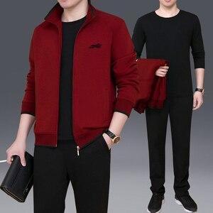Image 4 - Комплект спортивной одежды NBA45BF мужской, брендовый модный тренировочный костюм, комплект из трех предметов, повседневная одежда