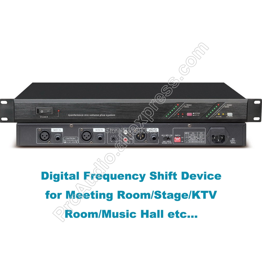 Professional R1210 Digital Feedback suppressor Frequency Shift Device for Conference Meeting KTV Room Theater Stage