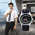 SmileOMG Hot Fashion New Men Watch Leather Band Alloy Dial Quartz Wrist Watch Christmas Gift Free Shipping ,Oct 12