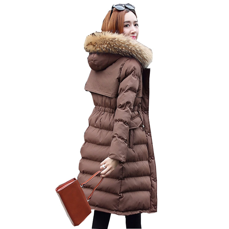 Ukraine Fur collar Plus size Winter Womens Down Cotton Jackets 2017 New Hooded Padded Women Coat Parka Fashion Female Jacket 3XL yi la 2017 new winter fur collar hooded down cotton coat fashion women s long coat cotton warm jacket parka plus size 3xl s869