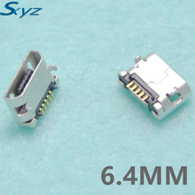 10Pcs 6.4MM Micro USB 5P,5-pin DIP Micro USB Jack,5Pins Micro USB Connector Tail Charging socket
