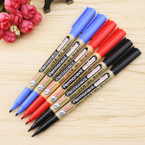 Deli 12pcs/lot permanent waterproof round toe Instantly dry graffiti oil ink sharpie paint colored marker pens for drawing tire