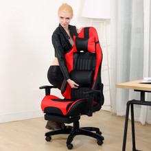 Multifunctional Fashion Boss Chair WCG Computer Gaming Chair Household Reclining Office Chair With Footrest Racing Seat(China)