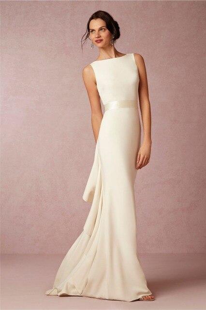 Backless Mermaid Wedding Dresses Simple