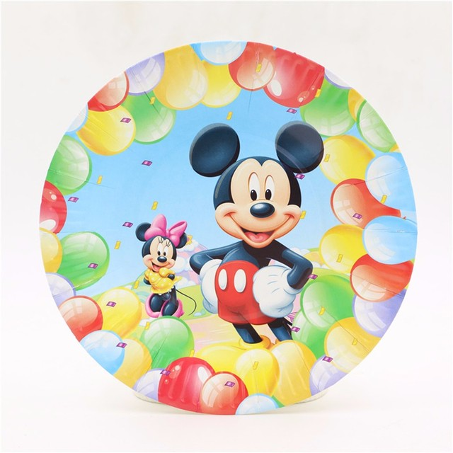 cute mickey mouse theme party decoration tableware paper plate dishes disposable 7inch cake paper plates supplies  sc 1 st  AliExpress.com & cute mickey mouse theme party decoration tableware paper plate ...