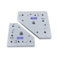 1 adet CNC 3D Yazıcı bağlantı plakası köşe 90 Derece Birleştirme Plakası AB standardı için 3030-M12/3030-M16/4040-M16 alüminyum profil