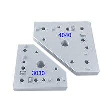 1pc CNC 3D Drucker anschluss platte ecke 90 90-grad-verbindungsplatte für EU standard 3030-M12 /3030-M16 /4040-M16 aluminium profil