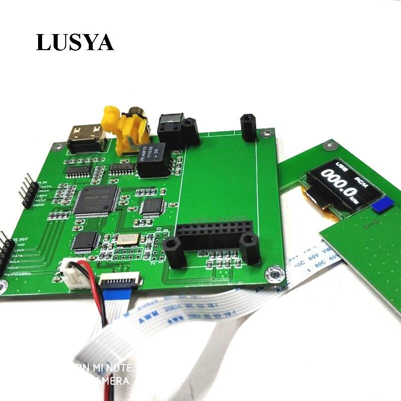 Lusya Amanero Digital Interface XMOS Interface Audio Decoder Preamp DAC Sampling Rate Display AK4118 SPDIF I2S