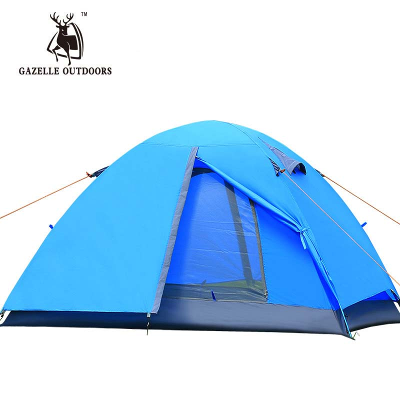 2017 New Brand 2 person Double Layer Tent Ultralight Outdoor Hiking Couple Camping Tent Waterproof Picnic fishing beach Sunshade hewolf 2persons 4seasons double layer anti big rain wind outdoor mountains camping tent couple hiking tent in good quality