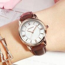 SANDA 2018 Leather Women Watches Ladies Luxury Brand Crystal Wrist Watch Dress Female Clock Relogio Feminino Montre Femme